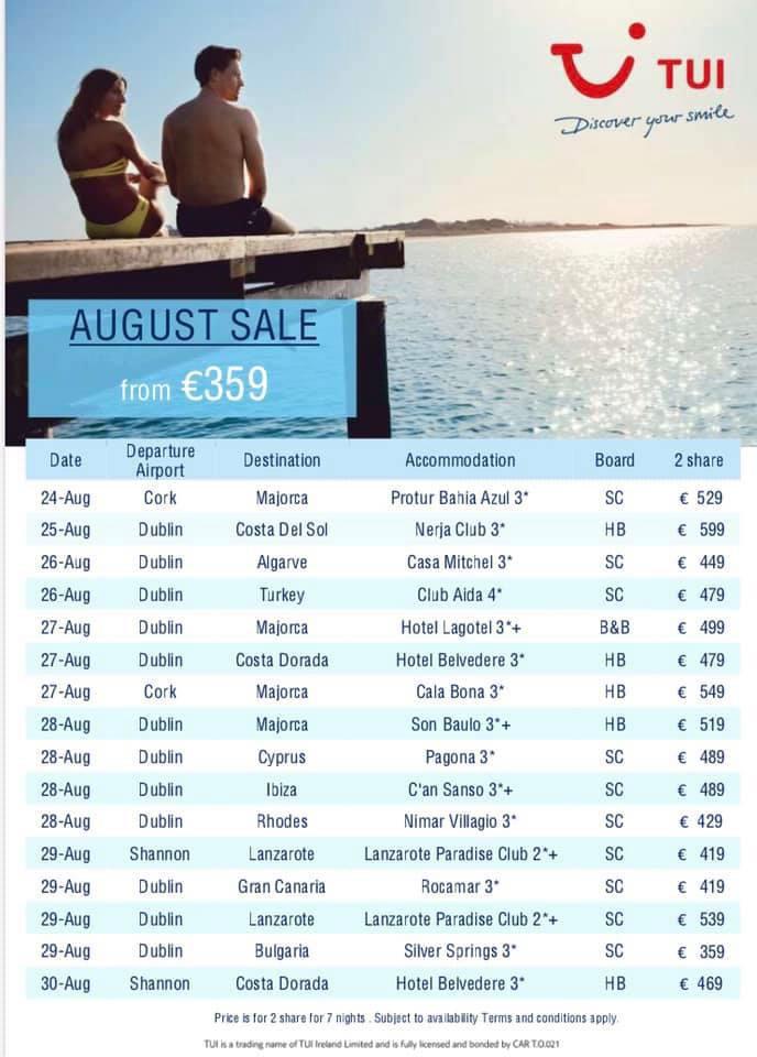 august summer sun holidays