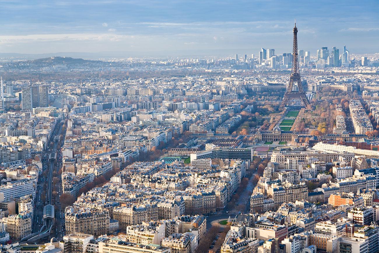 paris view of eifel tower