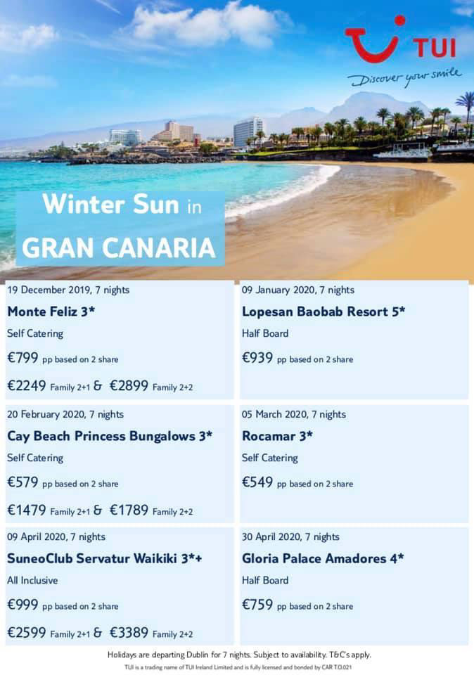 winter sun canaries offers